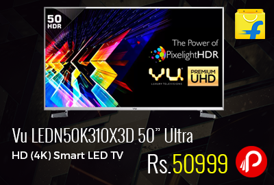 "Vu LEDN50K310X3D 50"" Ultra HD (4K) Smart LED TV"