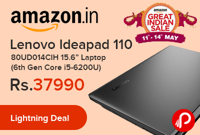 "Lenovo Ideapad 110 80UD014CIH 15.6"" Laptop"
