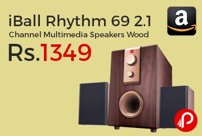 iBall Rhythm 69 2.1 Channel Multimedia Speakers Wood
