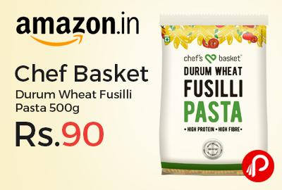 Chef Basket Durum Wheat Fusilli Pasta 500g at Rs.90 Only - Amazon  Chef Basket Durum Wheat Fusilli Pasta 500g at Rs.90 Only - Amazon