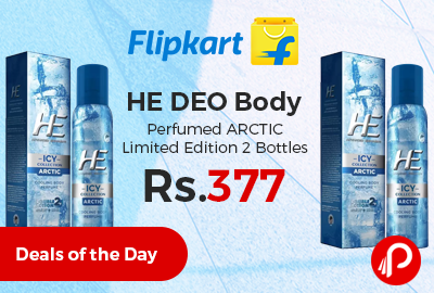HE DEO Body Perfumed ARCTIC Limited Edition 2 Bottles