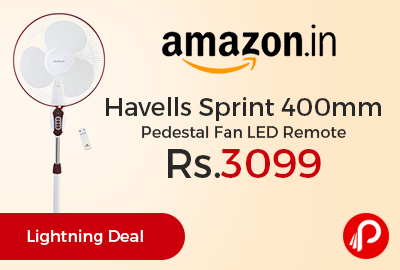 Havells Sprint 400mm Pedestal Fan LED Remote