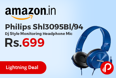 Philips Shl3095Bl/94 Dj Style Monitoring Headphone Mic