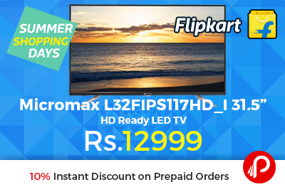 "Micromax L32FIPS117HD_I 31.5"" HD Ready LED TV"