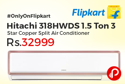 Hitachi 318hwds 1 5 Ton 3star Copper Air Conditioner At Rs