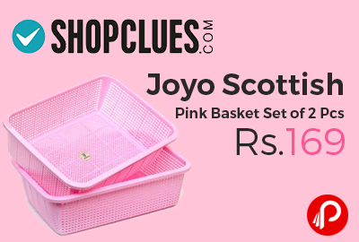 Joyo Scottish Pink Basket Set of 2 Pcs