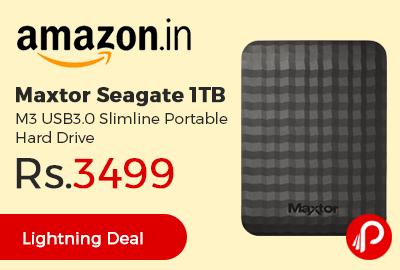 Maxtor Seagate 1TB M3 USB3.0 Slimline Portable Hard Drive