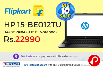 """HP 15-BE012TU 1AC75PA#ACJ 15.6"""" Notebook"""