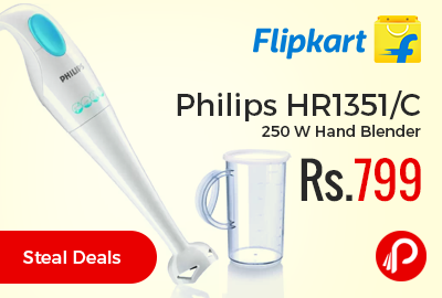 Philips HR1351/C 250 W Hand Blender at Rs.799 Only - Flipkart