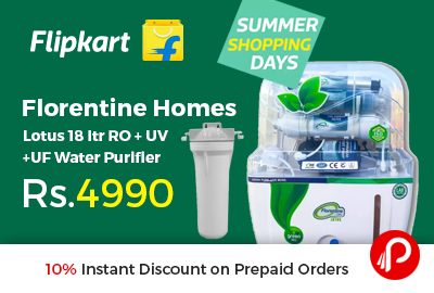 Florentine Homes Lotus 18 ltr RO + UV +UF Water Purifier