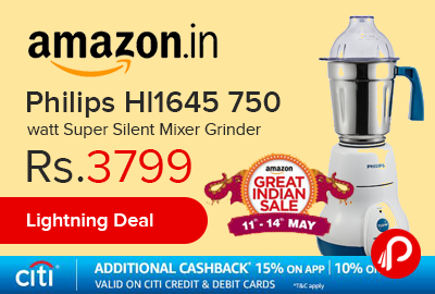 Philips Hl1645 750 watt Super Silent Mixer Grinder