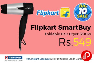 Flipkart SmartBuy Foldable Hair Dryer 1200W