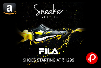 Sneaker Fest Fila Shoes Price Starts Rs.1299 - Amazon