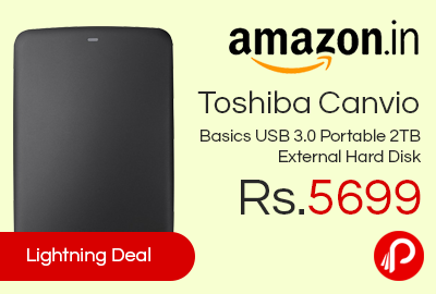 Toshiba Canvio Basics USB 3.0 Portable 2TB External Hard Disk