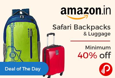 Safari Backpacks & Luggage Minimum 40% off - Amazon