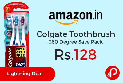 Colgate Toothbrush 360 Degree Save Pack