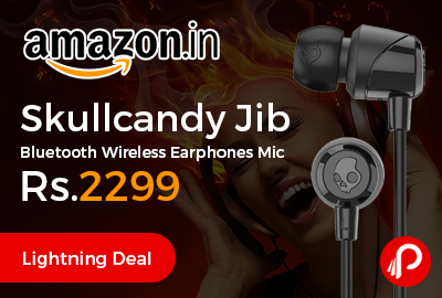 Skullcandy Jib Bluetooth Wireless Earphones Mic