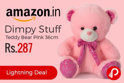 Dimpy Stuff Teddy Bear Pink 36cm