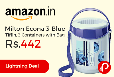 Milton Econa 3-Blue Tiffin, 3 Containers with Bag