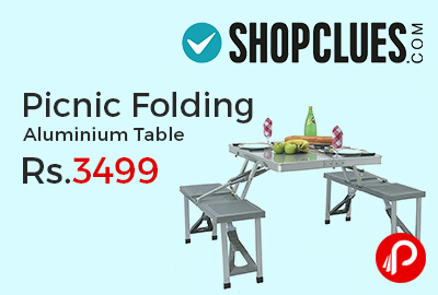 Picnic Folding Aluminium Table at Rs.3499 Only - Shopclues