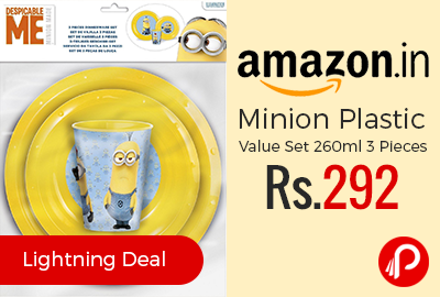 Minion Plastic Value Set 260ml 3 Pieces