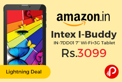 "Intex I-Buddy IN-7DD01 7"" Wi-Fi+3G Tablet"