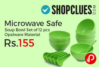 Microwave Safe Soup Bowl Set of 12 pcs Opalware Material
