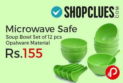 Microwave Safe Soup Bowl Set of 12 pcs Opalware Material