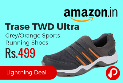 Trase TWD Ultra Grey/Orange Sports Running Shoes