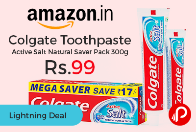 Colgate Toothpaste Active Salt Natural Saver Pack 300g
