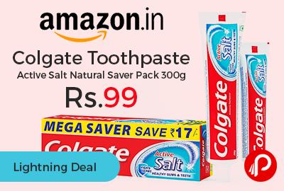 Colgate Toothpaste Active Salt Natural Saver Pack 300g