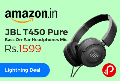 JBL T450 Pure Bass On-Ear Headphones Mic at Rs.1599 Only - Amazon