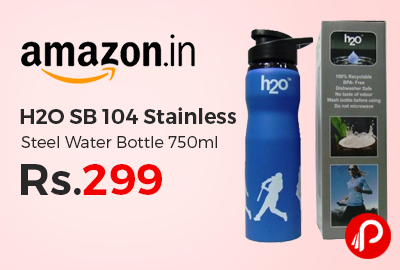 H2O SB 104 Stainless Steel Water Bottle 750ml