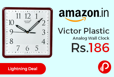 Victor Plastic Analog Wall Clock
