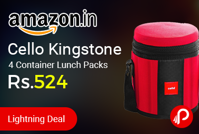 Cello Kingstone 4 Container Lunch Packs at Rs.524 Only