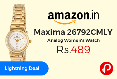 Maxima 26792CMLY Analog Women's Watch