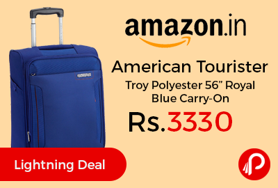 "American Tourister Troy Polyester 56"" Royal Blue Carry-On"