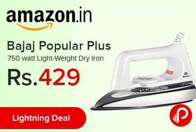 Bajaj Popular Plus 750 watt Light-Weight Dry Iron