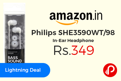 Philips SHE3590WT/98 In-Ear Headphone at Rs.349 Only - Amazon