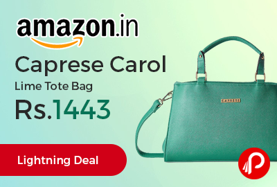 Caprese Carol Lime Tote Bag