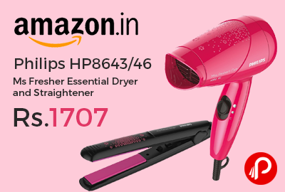 Philips HP8643/46 Ms Fresher Essential Dryer and Straightener