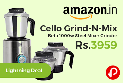 Cello Grind-N-Mix Beta 1000w Steel Mixer Grinder