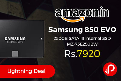 Samsung 850 EVO 250GB SATA III Internal SSD MZ-75E250BW