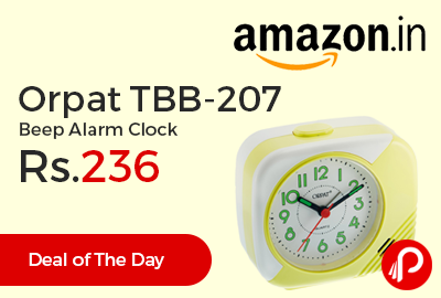 Orpat TBB-207 Beep Alarm Clock at Rs.236 Only - Amazon