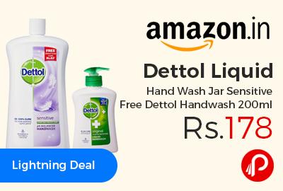 Dettol Liquid Hand Wash Jar Sensitive Free Dettol Handwash 200ml