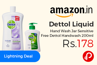 Dettol Liquid Hand Wash Jar Sensitive Free Dettol Handwash 200ml