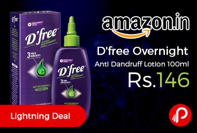 D'free Overnight Anti Dandruff Lotion 100ml