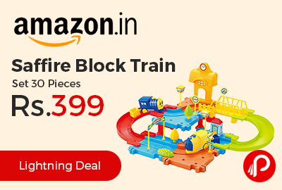 Saffire Block Train Set 30 Pieces