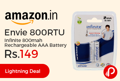 Envie 800RTU Infinite 800mah Rechargeable AAA Battery