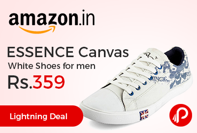 ESSENCE Canvas White Shoes for men